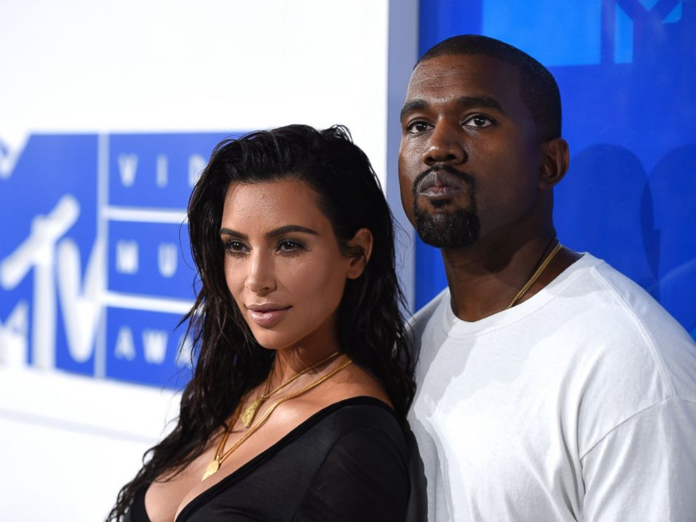 In this Aug. 28, 2016 file portray, Kim Kardashian West, left, and Kanye West come on the MTV Video Tune Awards in New York.