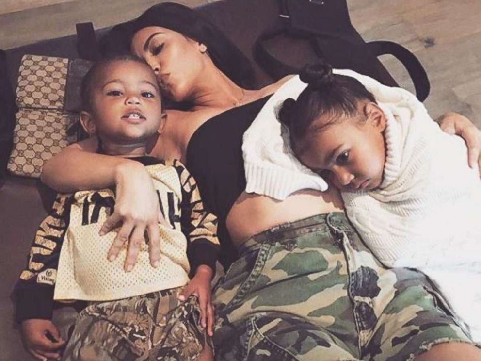 PHOTO: Kim Kardashian posted this photo of herself with her children Saint and North West to her Instagram account.