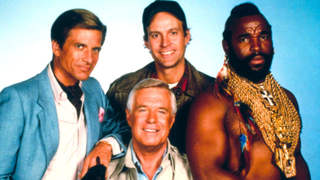 PHOTO Dirk Benedict Dwight Schultz Mr T And George Peppard Starred In