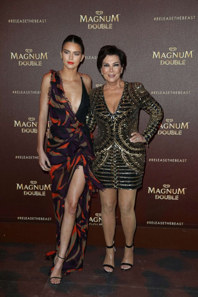 PHOTO: Kendall Jenner and Kris Jenner attending the Magnum Double Occasion at Plage Magnum right thru The 69th Annual Cannes Film Pageant in Cannes, France on Could additionally merely 12, 2016.