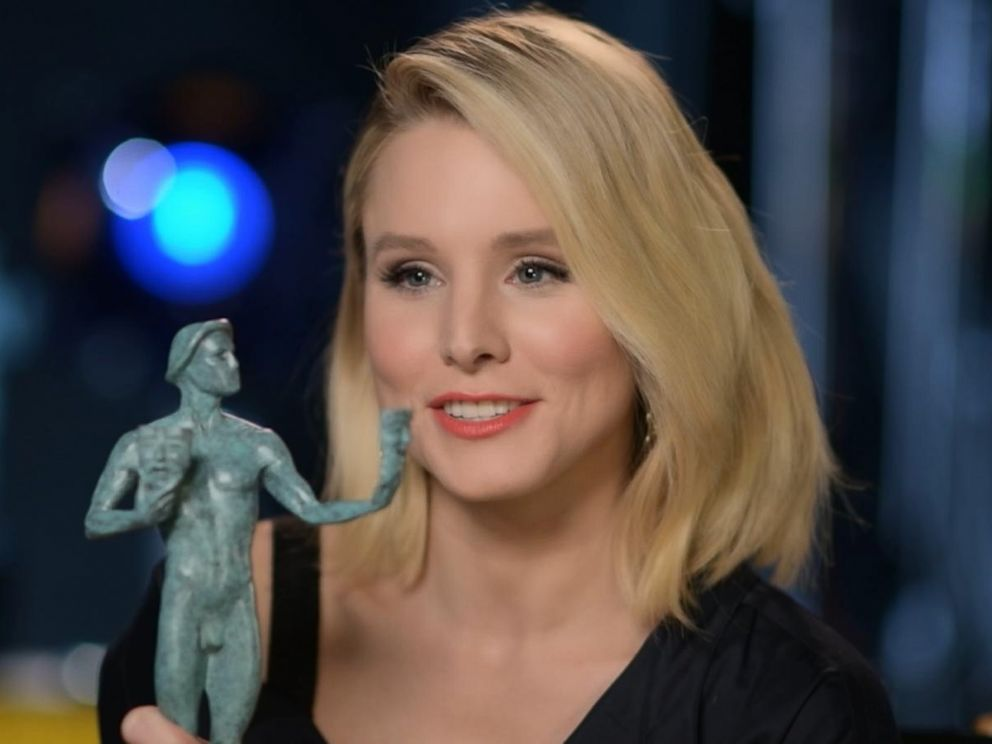 PHOTO: Kristen Bell opens up about being the first person to ever host the Screen Actors Guild Awards in an interview with ABC News Nick Watt.