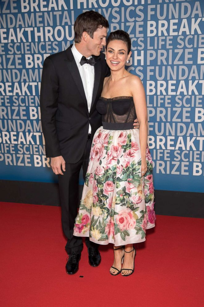 PHOTO: Ashton Kutcher and Mila Kunis arrive at the 2018 Breakthrough Prize at NASA Ames Research Center, Dec. 3, 2017, in Mountain View, Calif.