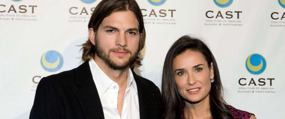PHOTO: Ashton Kutcher and Demi Moore arrive at the Coalition to Abolish Slavery & Trafficking 13th annual gala at the Skirball Cultural Center, May 12, 2011, in Los Angeles.