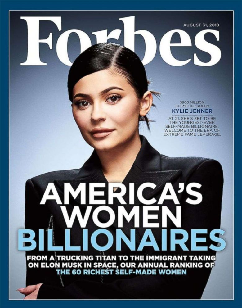 PHOTO: Kylie Jenner appears on the front page of the Aug. 31, 2018 issue of Forbes magazine.