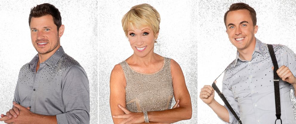 "PHOTO: Nick Lachey, Barbara Corcoran and Frankie Muniz will compete for the mirror ball title on the new season ""Dancing With The Stars."""