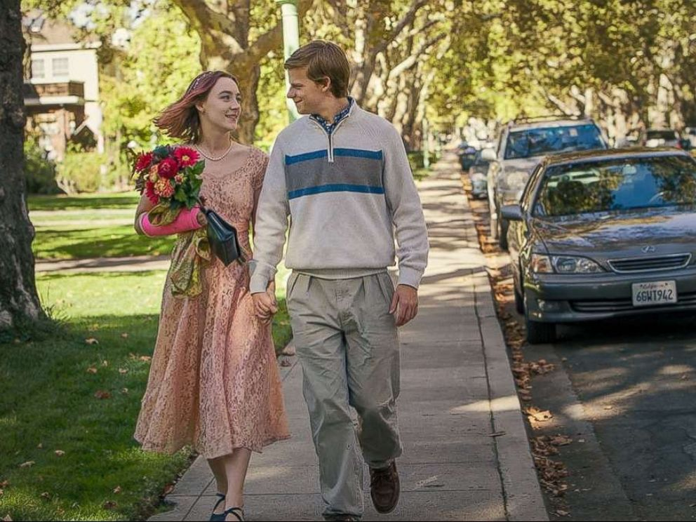 PHOTO: Saoirse Ronan and Lucas Hedges in the movie Lady Bird.