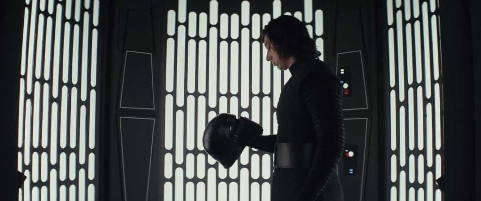 "PHOTO: Adam Driver stars as Kylo Ren in ""Star Wars: The Last Jedi,"" 2017."