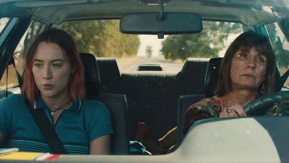 PHOTO: Laurie Metcalf, right, and Saoirse Ronan appear in a scene from Lady Bird.