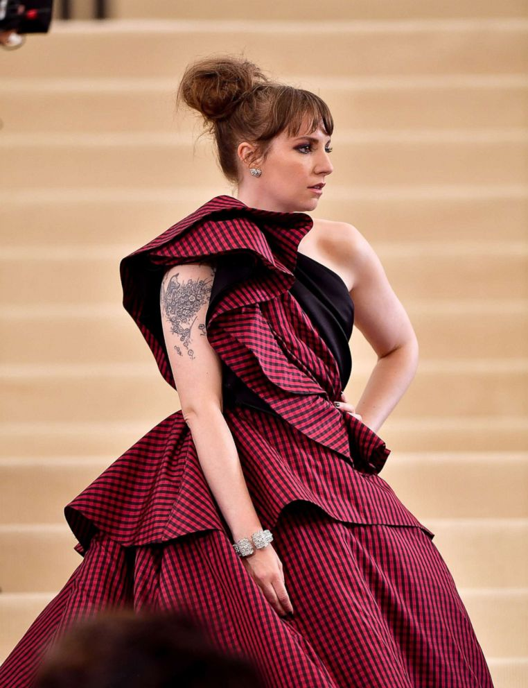 PHOTO: Lena Dunham attends the Rei Kawakubo/Comme des Garcons: Art Of The In-Between Costume Institute Gala at Metropolitan Museum of Art, May 1, 2017 in New York City.