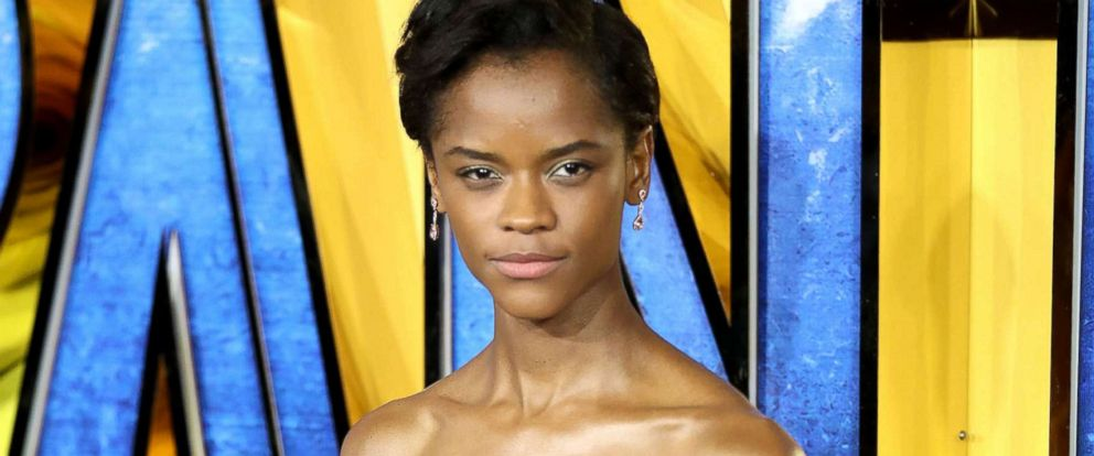 PHOTO:Letitia Wright attends the European Premiere of Black Panther at Eventim Apollo, Feb. 8, 2018, in London.