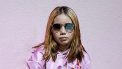 """PHOTO: 9-year-old social media star """"Lil Tay"""" is photographed here."""