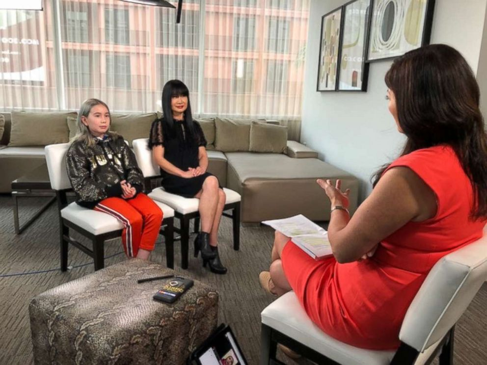PHOTO: Instagram star Lil Tay and her mother, Angela, open up in an interview with ABC News Juju Chang.