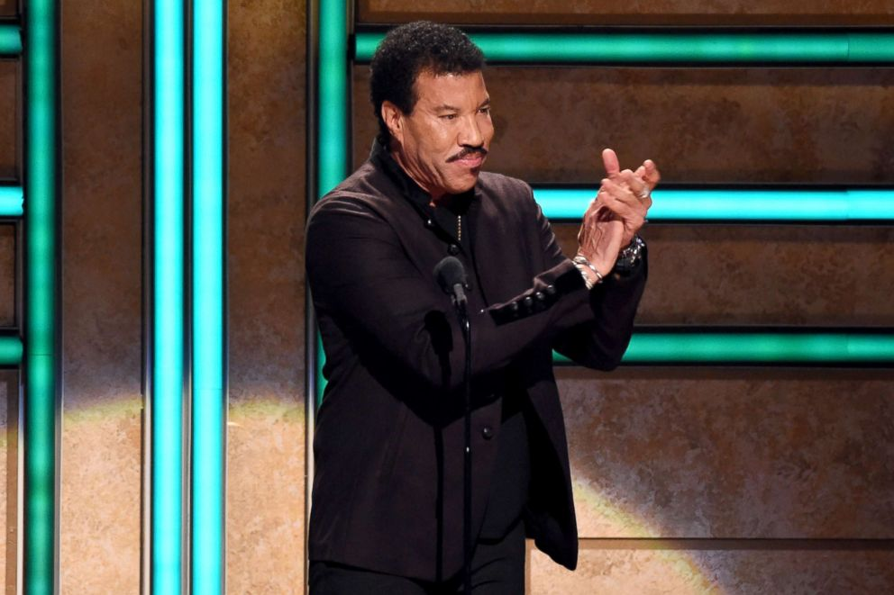 PHOTO: Lionel Richie speaks at the 2017 CMT Artists Of The Year on Oct. 18, 2017, in Nashville, Tenn.