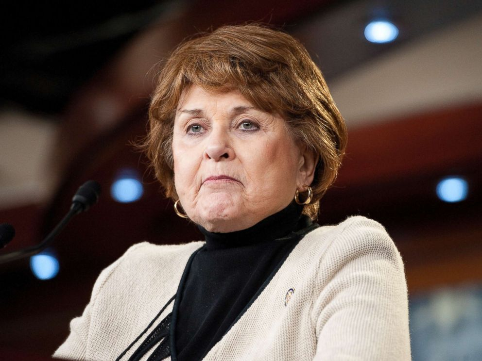 PHOTO: Democratic Congresswoman Louise Slaughter from New York speaks at a conference, Feb. 7, 2012.