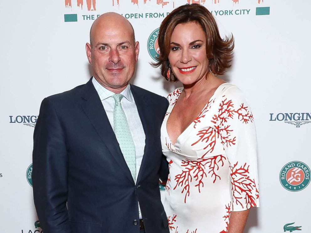 PHOTO: Tom DAgostino Jr. and Luann DAgostino attend the Roland-Garros reception at French Consulate, June 8, 2017 in New York City.