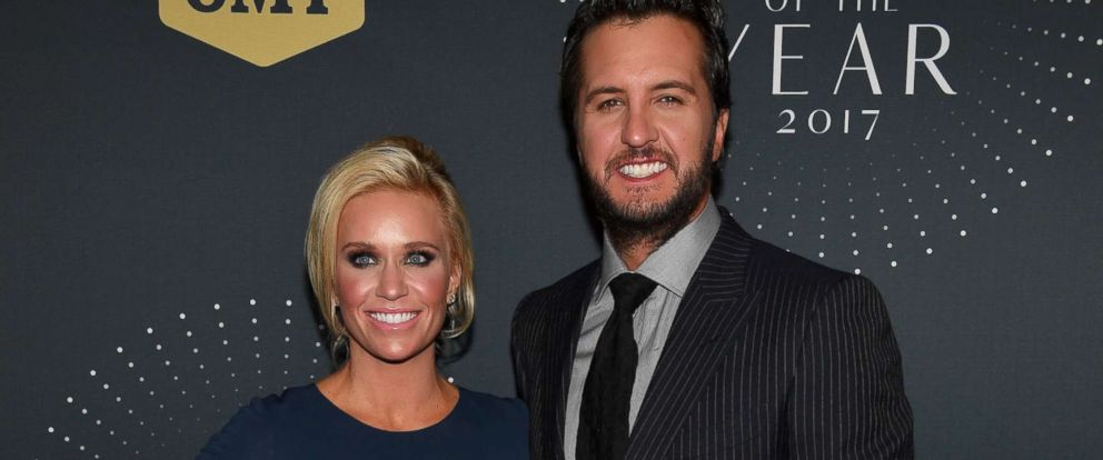 PHOTO: Recording Artist Luke Bryan and Wife, Caroline arrive at the 2017 CMT Artists Of The Year Awards Show, Oct. 18, 2017, in Nashville, Tennessee.