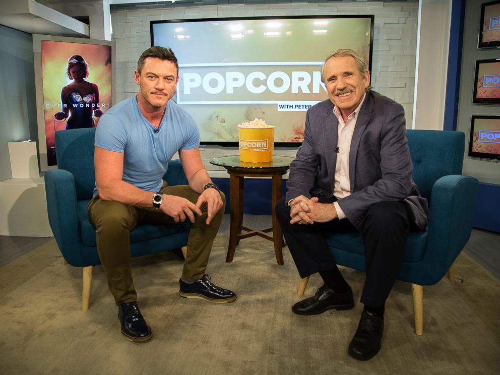 PHOTO: Luke Evans appears on Popcorn with Peter Travers at ABC News studios, Oct. 10, 2017, in New York City.