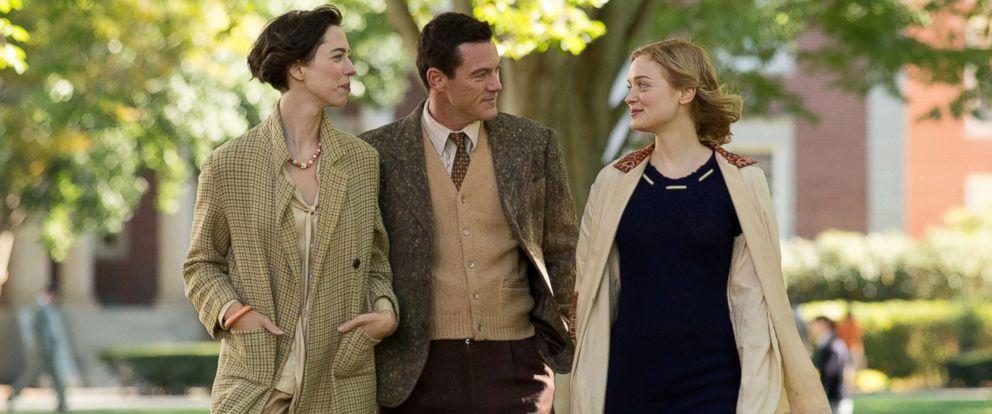 "PHOTO: Rebecca Hall, Luke Evans and Bella Heathcote in ""Professor Marston and the Wonder Women."""