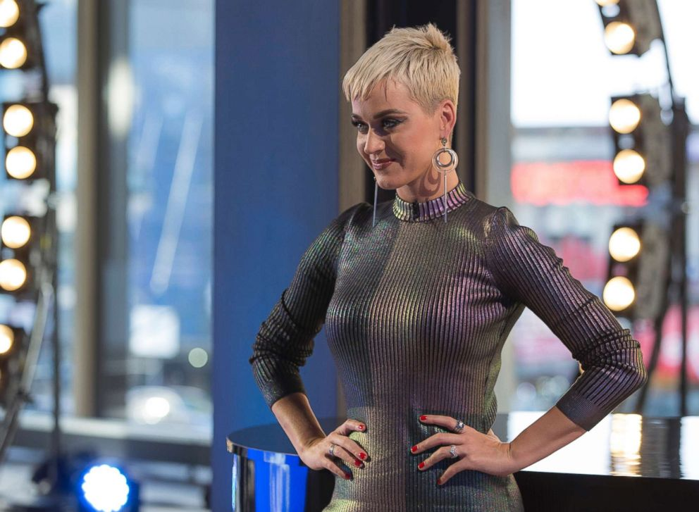 PHOTO: Katy Perry, shown on the set of American Idol., March 6, 2018.