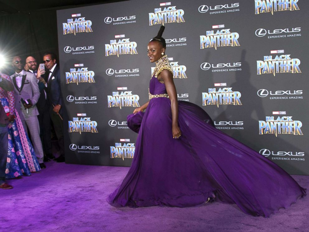 PHOTO: Lupita Nyongo attends the world premiere of Marvel Studios Black Panther, Jan. 29, 2018, in Hollywood, Calif.