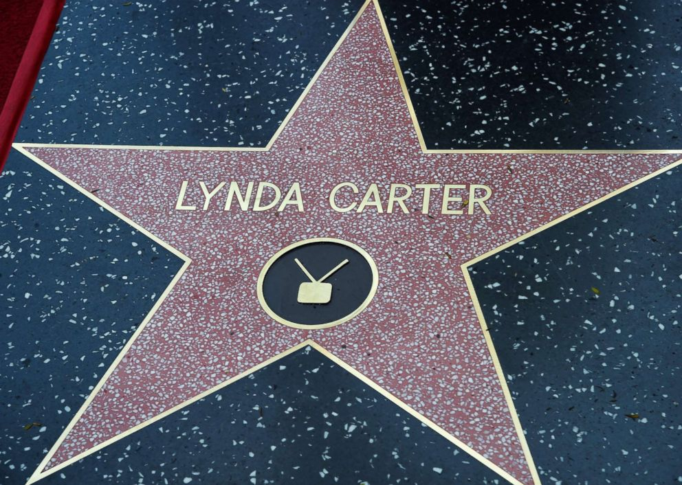 PHOTO: Actress Lynda Carters star is unveiled on the Hollywood Walk of Fame, April 3, 2018, in Hollywood, Calif.