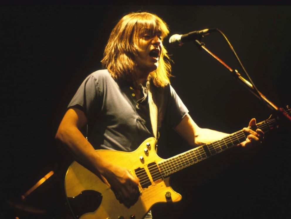 PHOTO: Guitarist Malcolm Young of the rock band AC/DC performs at the Met Center in Bloomington, Minn., Sept. 29, 1985.