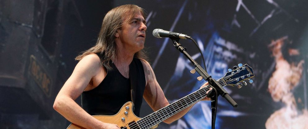 PHOTO: Guitarist Malcolm Young of the rock band AC/DC performs in Berlin, June 21, 2010.