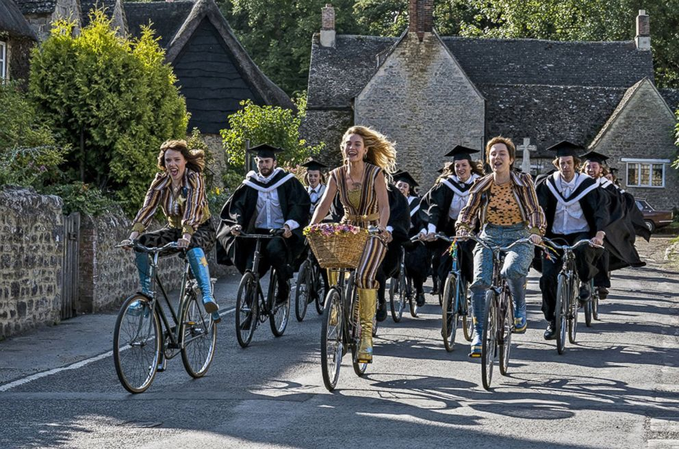 PHOTO: Alexa Davies, Lily James and Jessica Keenan in a scene from Mama Mia! Here We Go Again.