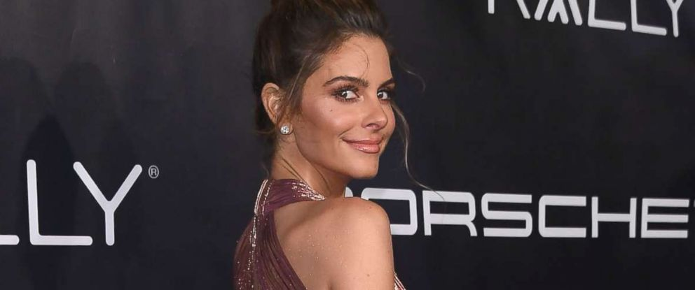 PHOTO: Actress Maria Menounos arrives for Gabrielles Angel Foundation for Cancer Research Angel Ball 2017, at Cipriani Wall Street on Oct. 23, 2017, in New York.