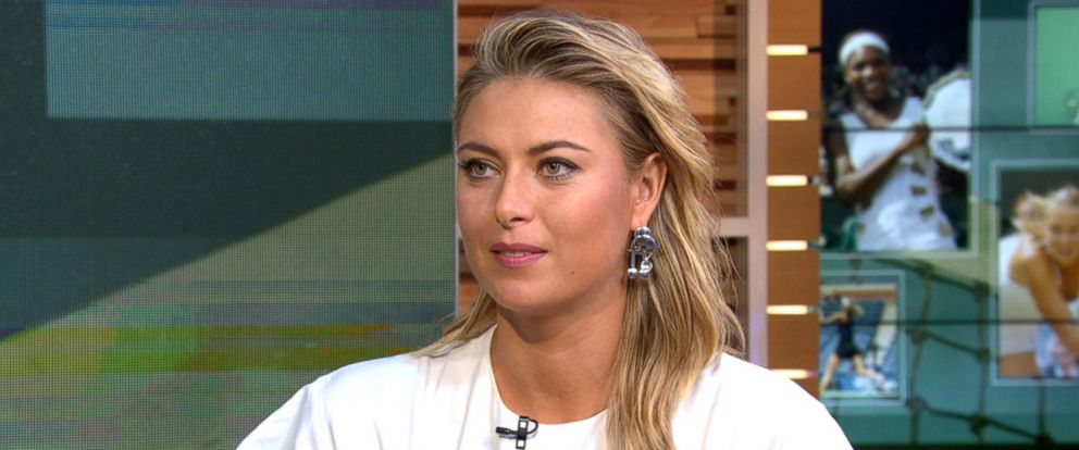 "PHOTO: Tennis star Maria Sharapova speaks about her new memoir, ""Unstoppable,"" live on ""Good Morning America"" in New York, Sept. 12, 2017."