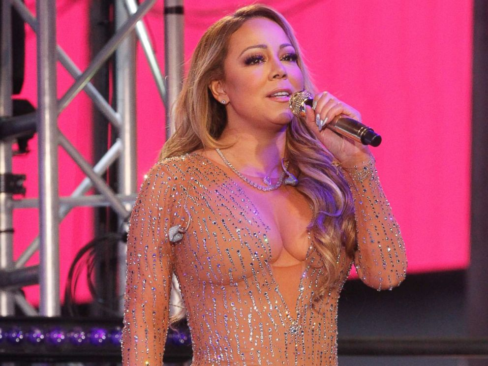 PHOTO: Mariah Carey performs during New Years Eve 2017 in Times Square, Dec. 31, 2016 in New York City.