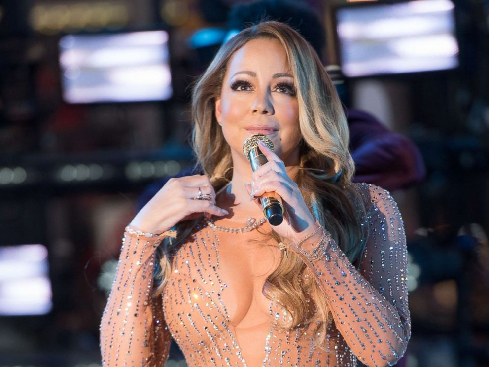 PHOTO: Singer Mariah Carey performs during New Years Eve 2017 in Times Square, Dec. 31, 2016, in New York City.