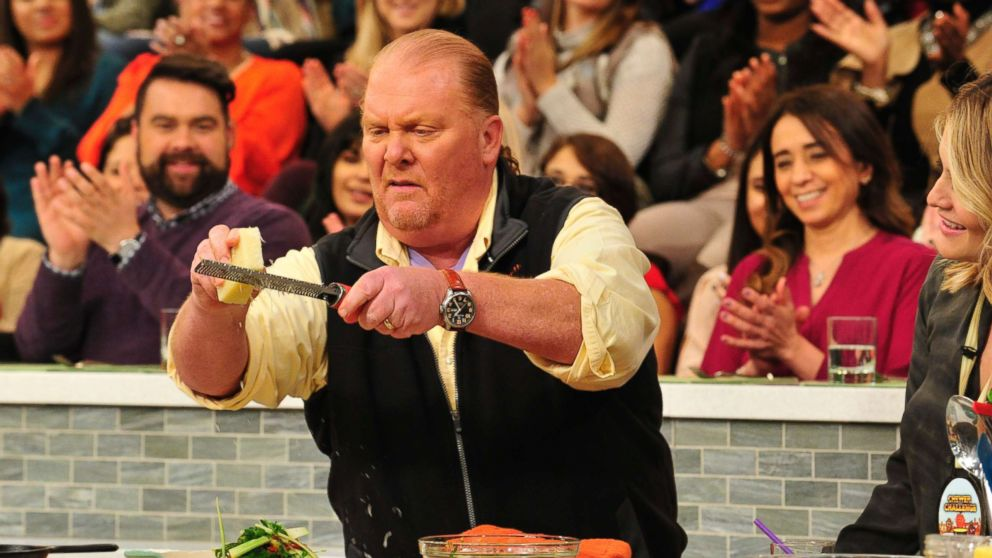 "Mario Batali on ABC's ""The Chew,"" Feb. 26, 2016, in New York City."