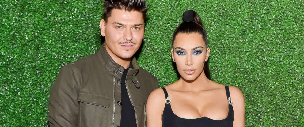 PHOTO: Mario Dedivanovic (L) and Kim Kardashian West attend KKWxMario Dinner at Jean-Georges Beverly Hills, March 31, 2018 in Beverly Hills, Calif.