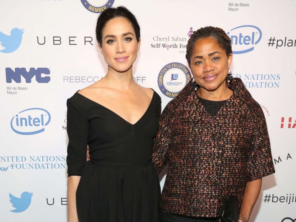 PHOTO: Meghan Markle and Doria Ragland attend UN Womens 20th Anniversary of the Fourth World Conference of Women in Beijing, March 10, 2015, in New York.
