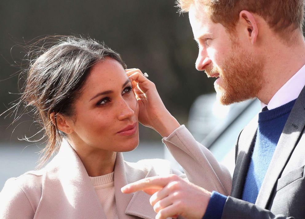 PHOTO: Prince Harry and Meghan Markle visit the Eikon Centre and attend an event to mark the second year of the youth-led peace-building initiative Amazing the Space, March 23, 2018, in Lisburn, Nothern Ireland.