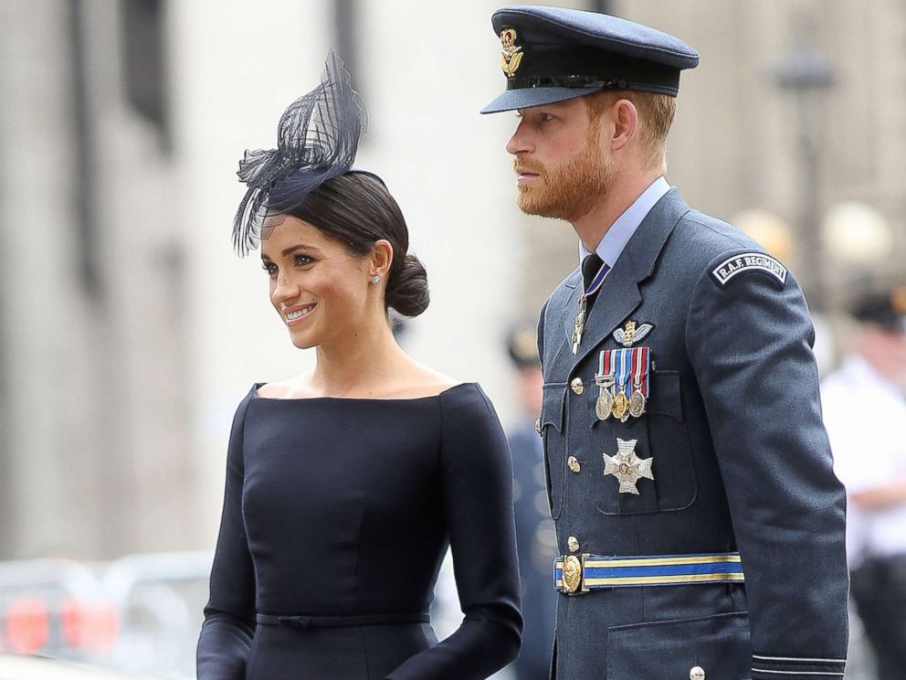 PHOTO: The Duke & Duchess of Sussex, Megan Markle & Prince Harry at Westminster Abbey for the 100 year celebration of the Royal Air Force, July 10, 2018.