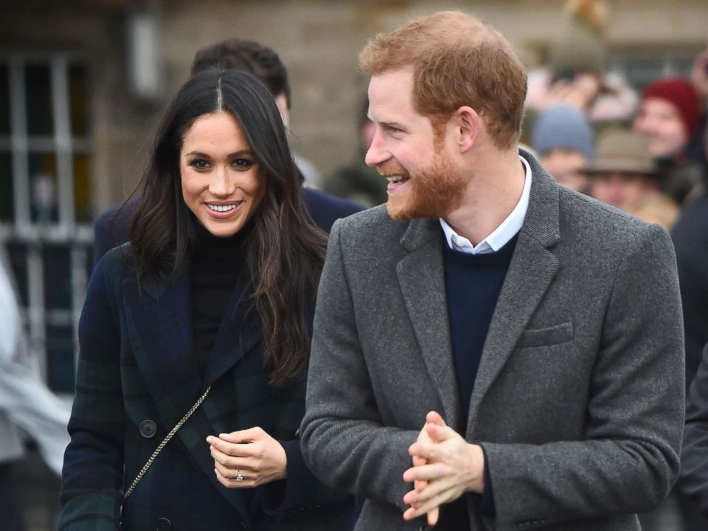 PHOTO: Britains Prince Harry and his fiancee Meghan Markle walk on the Esplanade at Edinburgh Castle, during a visit to Scotland, Feb. 13, 2018.