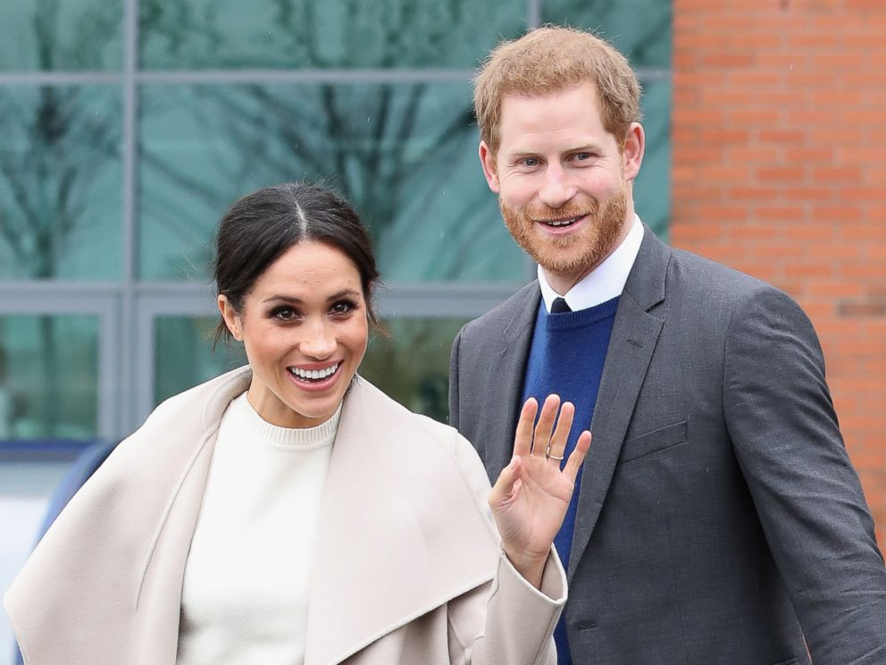 PHOTO: Prince Harry and Meghan Markle depart from Catalyst Inc, Northern Irelands next generation science park, March 23, 2018, in Belfast, Northern Ireland.