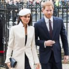 Meghan Markle and Prince Harry attend the 2018 Commonwealth Day service at Westminster Abbey, March 12, 2018, in London.