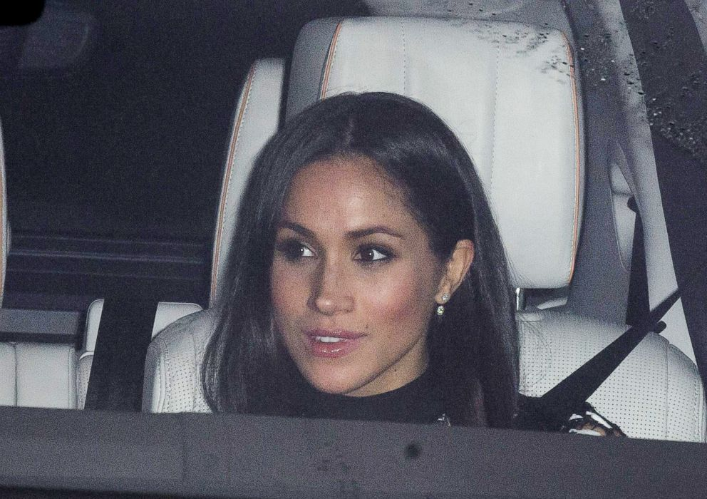 PHOTO: Meghan Markle arrives at the Royal Christmas lunch at Buckingham Palace, London, Dec. 20, 2017.