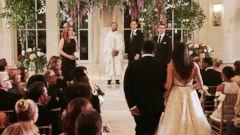 "PHOTO: Meghan Markle walks down the aisle on the season finale of ""Suits."""
