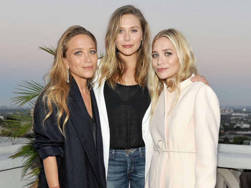 PHOTO: (L-R) Designer Mary-Kate Olsen, actress Elizabeth Olsen and designer Ashley Olsen attend Elizabeth and James Flagship Store Opening Celebration with InStyle at Chateau Marmont, July 26, 2016 in Los Angeles.