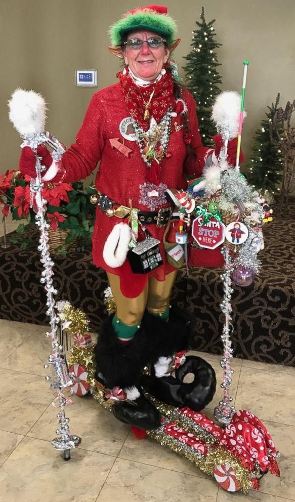 PHOTO: Mary Nelson of Austin, Minn., calls herself Merry Elf Elfson, the unofficial No. 1 Elf from Elfville.