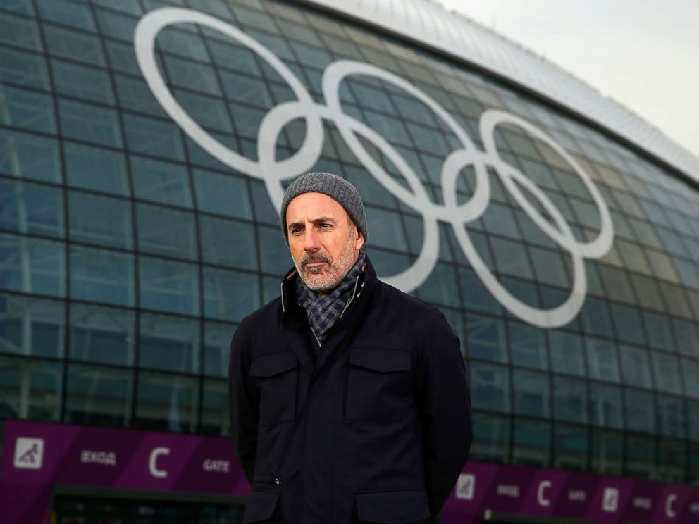 PHOTO: Matt Lauer reports for the NBC Today show in the Olympic Park ahead of the Sochi 2014 Winter Olympics, Feb. 5, 2014 in Sochi, Russia.