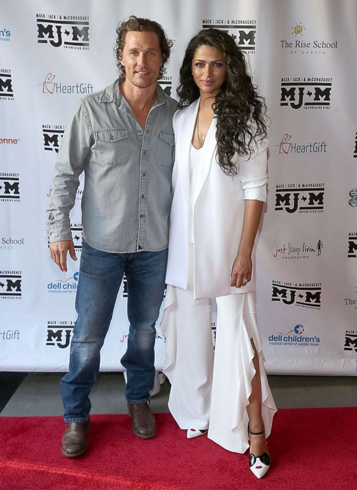 PHOTO: Matthew McConaughey and Camila Alves attend the Mack, Jack & McConaughey charity gala at ACL Live on April 12, 2018 in Austin.