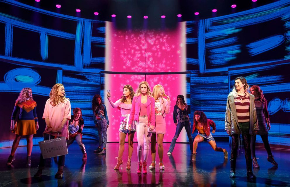 PHOTO: Actors perform in the Broadway production of Mean Girls, in New York.
