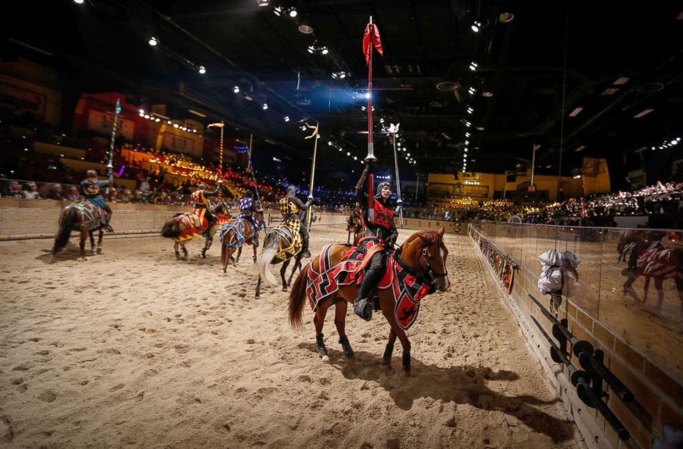 PHOTO: Performers take part in a dinner theater at Medieval Times in Lyndhurst, New Jersey, Jan. 4, 2015.