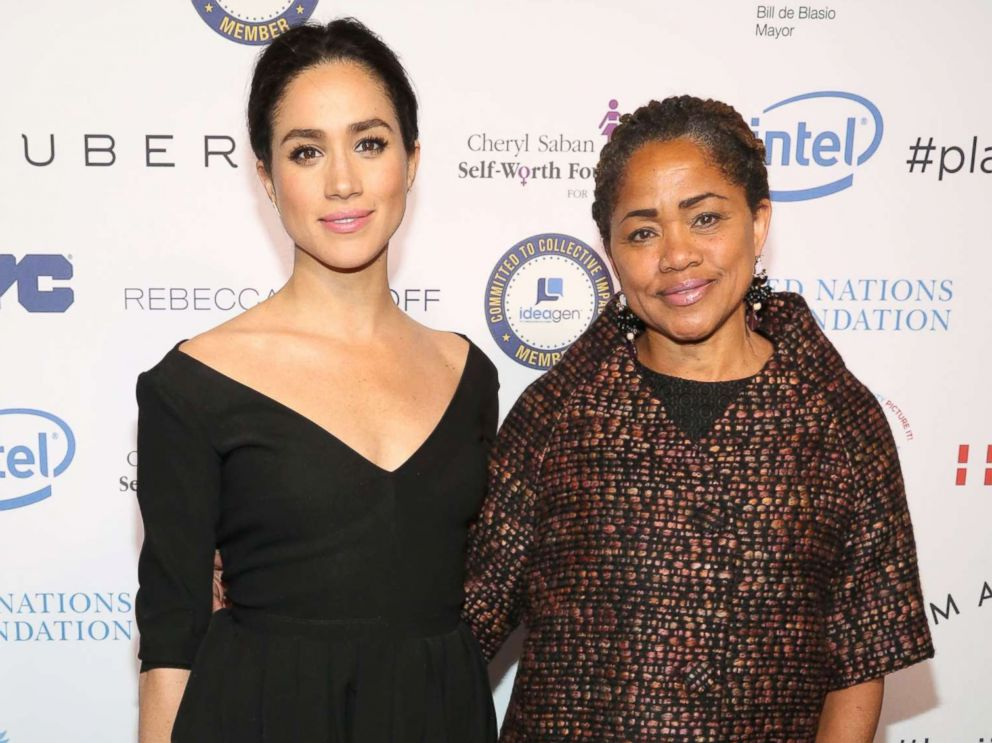 PHOTO: Meghan Markle and her mother Doria Ragland attend UN Womens 20th Anniversary of the Fourth World Conference of Women in Beijing at Manhattan Centre at Hammerstein Ballroom on March 10, 2015 in New York.
