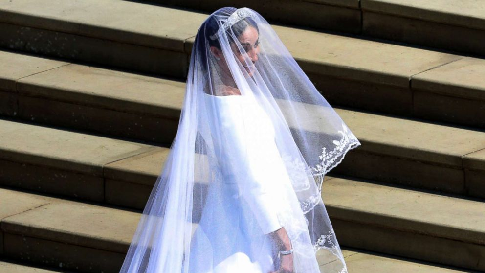 2aecf1f6 Meghan Markle arrives for the wedding ceremony of Prince Harry and Meghan  Markle at St.